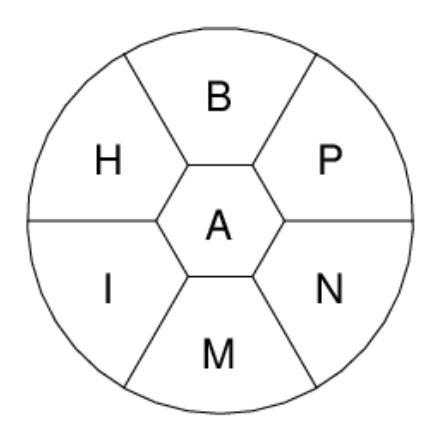 Example Times Bee Puzzle